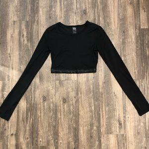 Victoria Secret SPORT Black Cropped Longsleeve S